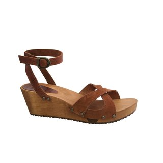 Sanita Thalia Wedge Flex Sandal Vintage Leather/Oil Suede